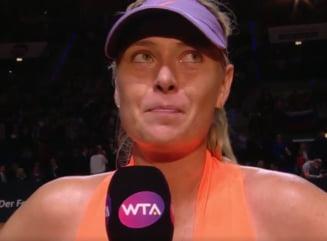 Reactia Mariei Sharapova dupa victoria de la Stuttgart