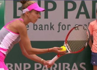 Reactia Mihaelei Buzarnescu dupa victoria minunata de la Roland Garros