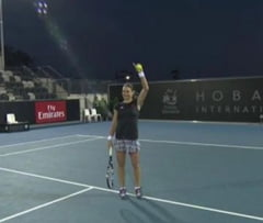 Reactia Monicai Niculescu dupa calificarea in finala de la Hobart