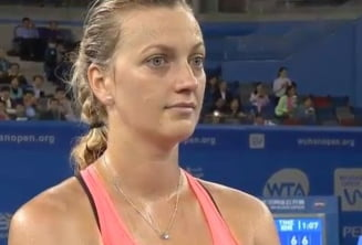 Reactia Petrei Kvitova dupa ce a invins-o pe Simona Halep la Wuhan