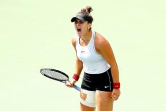 Reactia in lacrimi a Biancai Andreescu, dupa calificarea in finala Rogers Cup