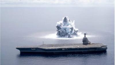 Reactia indignanta a Moscovei dupa ce SUA au testat noul super-portavion USS Gerald Ford cu o explozie uriasa