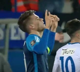 Reactia lui Ianis Hagi dupa golul superb marcat in Liga 1