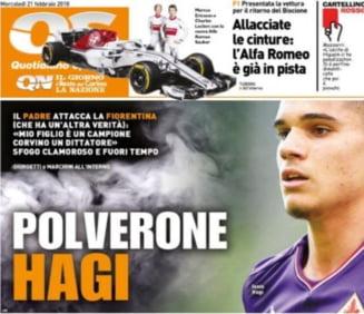 Reactia presei din Italia in conflictul dintre Gica Hagi si conducerea Fiorentinei