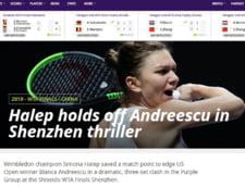 Reactii din presa internationala dupa victoria Simonei Halep in fata Biancai Andreescu: Iata ce-au scris BBC, The Guardian si WTA
