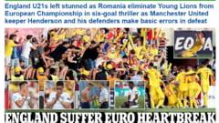 Reactii dure dupa infrangerea Angliei: Iata ce scrie presa britanica dupa meciul nebun cu Romania