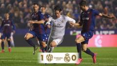 Real Madrid pierde sefia din La Liga dupa o infrangere surprinzatoare la Levante (Video)