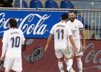 Real Madrid si-a luat revansa dupa eliminarea rusinoasa din Cupa. Victorie categorica in deplasare