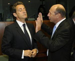 Relatia dintre Basescu si Sarkozy, tradata de imagini (Galerie Foto)