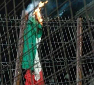 Replica oficiala a ungurilor in cazul drapelului incendiat la Cluj