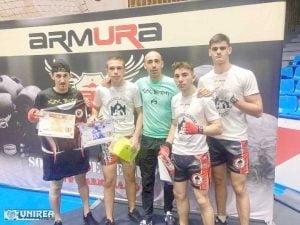 Reprezentantii Revolution Academy Alba - clasari pe podium la Cupa Armura de kickboxing