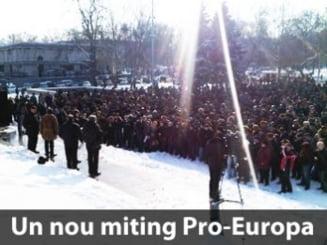 Republica Moldova: Un nou miting in favoarea refacerii aliantei pro-europene