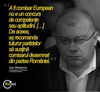 Reset cere presedintelui Iohannis demiterea ambasadorului Dan Mihalache pentru sprijinul acordat Rovanei Plumb