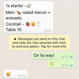 Restaurantele in epoca Internetului: Un local a lansat un meniu in care preparatele sunt descrise 100% prin emoji