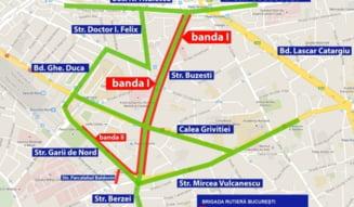 Restrictii de trafic in Bucuresti, din cauza unui protest la Gara de Nord si lucrari la reteaua de gaze