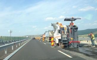 Restrictii de trafic pe A2 la kilometrul 143 din cauza lucrarilor de reparatii