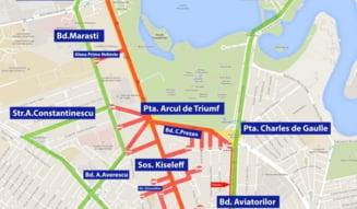 Restrictii in trafic, sambata, in Bucuresti, pentru repetitiile pentru parada de 1 decembrie: Ce zone sa ocolesti