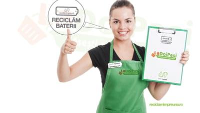 Reteaua LaDoiPasi si Asociatia SNRB extind programul de reciclare a bateriilor in peste 500 de magazine din Romania
