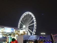 Revelion cu peripetii: Suspendati ore in sir in frig, la 50 de metri inaltime, intr-un carusel blocat