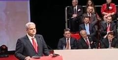 Revenirea lui Nastase: Primul discurs pe scena PSD, dupa condamnarea la inchisoare