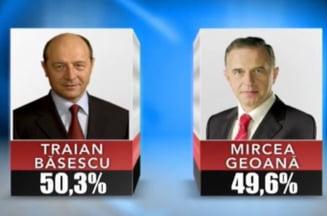 Rezultate finale alegeri prezidentiale: Basescu ramane presedinte - 50,33%