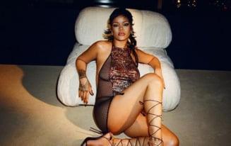 Rihanna, tulburător de sexy în ultima apariție publică. Vedeta și-a expus lenjeria intimă și tatuajul de sub sâni FOTO