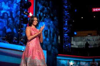 Rochia purtata de Michelle Obama in timpul ultimului discurs al sotului ei, epuizata din magazine