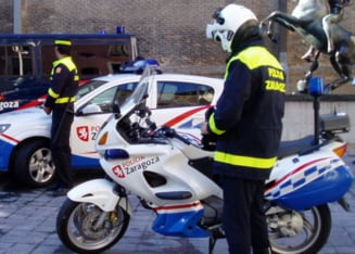Roman ucis de politie, in Spania