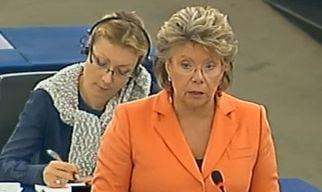 Romania, in dezbaterea PE: Viviane Reding, atacata de sustinatorii USL in lipsa lui Ponta