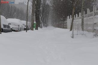 Romania, in viscol si ger, pana duminica. Niciun drum national nu mai este blocat