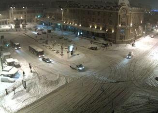 Romania, in zapada - Varful nametilor, luni noapte. De marti, va fi mai bine