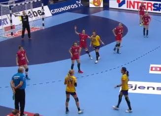 Romania, victorie splendida cu Rusia la Campionatul European de handbal