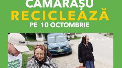 Romania Recicleaza ajunge din nou in Cluj: Locuitorii din Camarasu recicleaza pe 10 octombrie