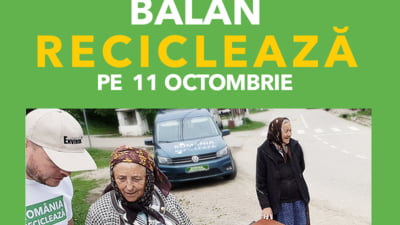 Romania Recicleaza ajunge in Harghita pe 11 octombrie: Orasul Balan, inscris pentru a doua oara in campanie