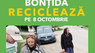 Romania Recicleaza ajunge in judetul Cluj: Locuitorii din Bontida recicleaza pe 8 octombrie