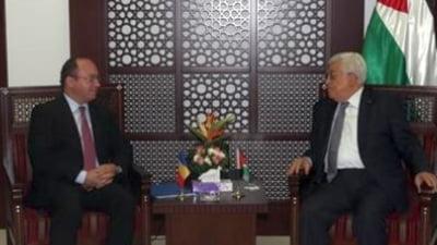 Romania se implica in Orientul Mijlociu: Aurescu, primit de Mahmoud Abbas