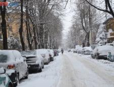 Romania sub zapada: Iarna ne-a luat iar prin surprindere - Drumuri si scoli inchise, trenuri anulate, oameni blocati in masini, localitati fara curent electric