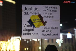 """Romanii au inceput anul cu proteste: """"Bucurestiul va zice NU!"""" (Galerie foto)"""