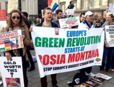 Romanii au protestat in Trafalgar Square fata de Rosia Montana