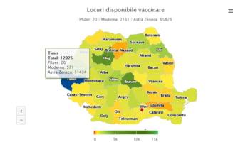 Romanii nu mai vor sa se vaccineze cu AstraZeneca. Peste 66.000 de locuri au ramas neocupate. Doar 20 de doze Pfizer disponibile in toata tara