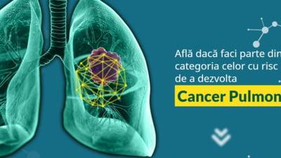 Romanii pot afla daca au risc de a dezvolta cancer pulmonar cu ajutorul unui test online
