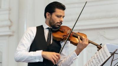 Romanul de geniu care vine in turneu cu o vioara Stradivarius evaluata la peste 5 milioane de euro. A castigat prin concurs dreptul de a folosi pretiosul instrument