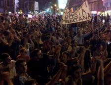 Rosia Montana: A 10-a noapte de proteste, la Bucuresti