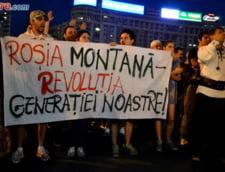 Rosia Montana Protestele continua in cartierele din Bucuresti: Victor Ponta se joaca de-a minerul