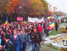 Rosia Montana protest unirii coloana