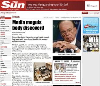 Rupert Murdoch a murit - anunt dat de hackeri