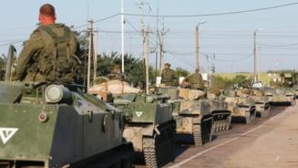 Rusia, incursiune in Ucraina: Armata ucraineana a atacat blindate rusesti