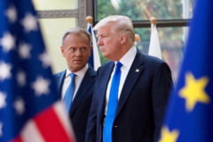 Rusia a fost subiect sensibil la intalnirea lui Trump cu liderii UE (Video)