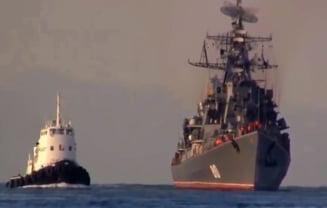 Rusia face manevre ample in Marea Neagra si Marea Caspica: Zeci de nave militare au iesit in larg