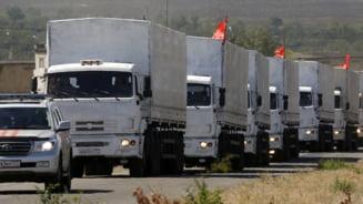 Rusia trimite un nou convoi in Ucraina - alimente sau arme pentru rebeli?